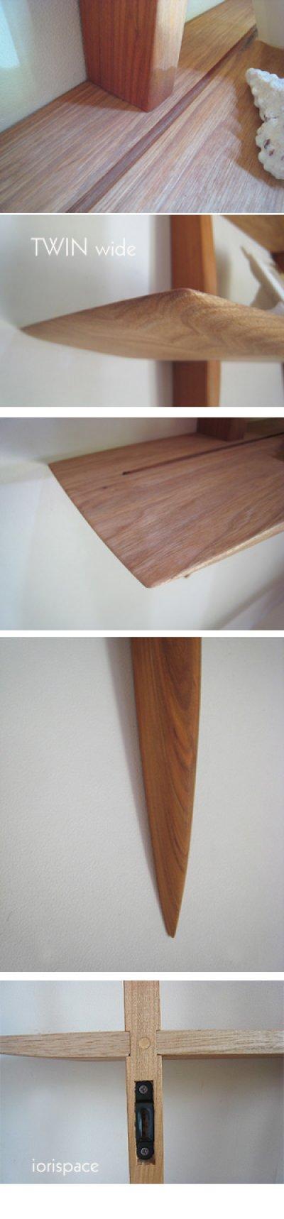 """画像2: 【送料無料】木製壁掛棚/ウォールシェルフ/""""TWIN wide""""ツイン ワイド"""
