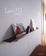 【ウォールシェルフ/壁掛け棚】LAIN(ライン)70ウォールナットモデル スリムでおしゃれ 壁がギャラリーになる 木製壁掛け飾り棚