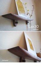 他の写真3: 【ウォールシェルフ/壁掛け棚】LAIN(ライン)30ウォールナットモデル スリムでコンパクト 壁がギャラリーになる 木製壁掛け飾り棚