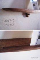 他の写真1: 【ウォールシェルフ/壁掛け棚】LAIN(ライン)70ウォールナットモデル スリムでおしゃれ 壁がギャラリーになる 木製壁掛け飾り棚