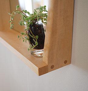棚付き壁掛け鏡 soft30ホワイト 棚部分