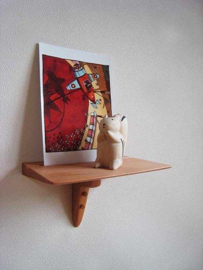 画像1: 【壁掛け棚/ウォールシェルフ】SPOT(スポット)チェリーモデル 壁面におしゃれなスペースを作る超コンパクトな壁掛け飾り棚