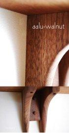 他の写真3: 【ウォールシェルフ/壁掛け棚】アール ウォールナットモデル 壁面をおしゃれに飾るウォールシェルフ シンプル ナチュラルな木製壁掛け飾り棚 玄関やトイレなどにお薦め