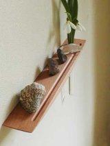 【ウォールシェルフ/壁掛け棚】LAIN(ライン)30チェリーモデル スリムでコンパクト 壁がギャラリーになる 木製壁掛け飾り棚