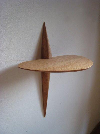 画像1: 【木製壁掛棚/ウォールシェルフ】クロス(Cross)[ 壁面にワンポイント!]