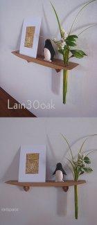 他の写真3: 【ウォールシェルフ/壁掛け棚】LAIN(ライン)30オークモデル スリムでコンパクト 壁がギャラリーになる 木製壁掛け飾り棚