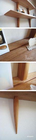 """他の写真3: 【送料無料】木製壁掛棚/ウォールシェルフ/""""TWIN""""ツイン"""