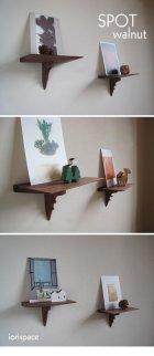 他の写真2: 【壁掛け棚/ウォールシェルフ】SPOT(スポット)ウォールナットモデル 壁面におしゃれなスペースを作る超コンパクトな壁掛け飾り棚