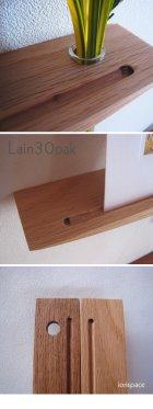 他の写真1: 【ウォールシェルフ/壁掛け棚】LAIN(ライン)30オークモデル スリムでコンパクト 壁がギャラリーになる 木製壁掛け飾り棚