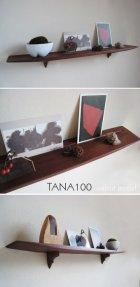 他の写真2: 壁掛棚TANA100ウォールナット無垢材100%おしゃれでシック モダンで北欧風 和洋問わず、マンションにも