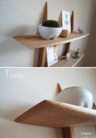 """他の写真2: 【送料無料】木製壁掛棚/ウォールシェルフ/""""TWIN""""ツイン"""