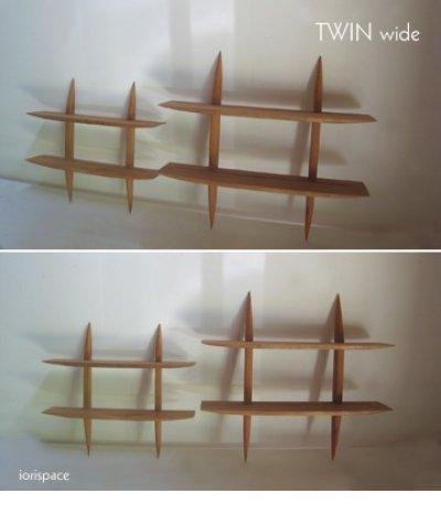 """画像4: 【送料無料】木製壁掛棚/ウォールシェルフ/""""TWIN wide""""ツイン ワイド"""