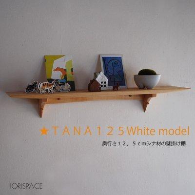 画像1: 【ウォールシェルフ/壁掛け棚】TANA125ホワイト 壁面をおしゃれに飾る北欧風ウォールシェルフ シンプル   ナチュラルな木製壁掛け飾り棚